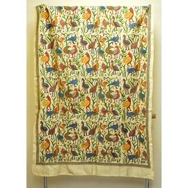 シルク カンタ刺繍布 トリモチーフ